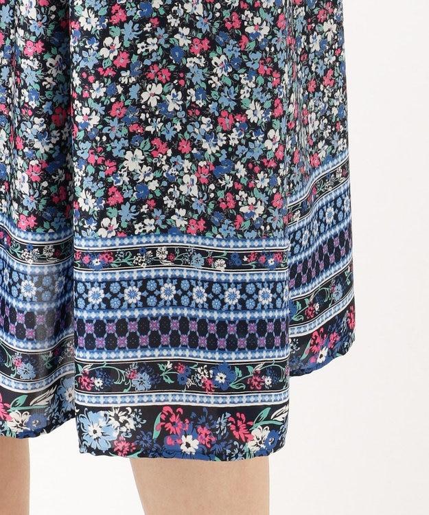 組曲 【洗える】パネルフラワープリント スカート