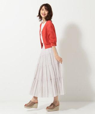 組曲 L 【新色追加!】エアリーボイルティアードスカート ライトグレー系