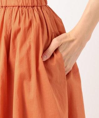 組曲 S 【MOREコラボ・限定カラーあり】エアリーボイル フレアスカート 【WEB限定】オレンジ系