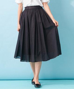 組曲 S 【MOREコラボ・限定カラーあり】エアリーボイル フレアスカート ブラック系