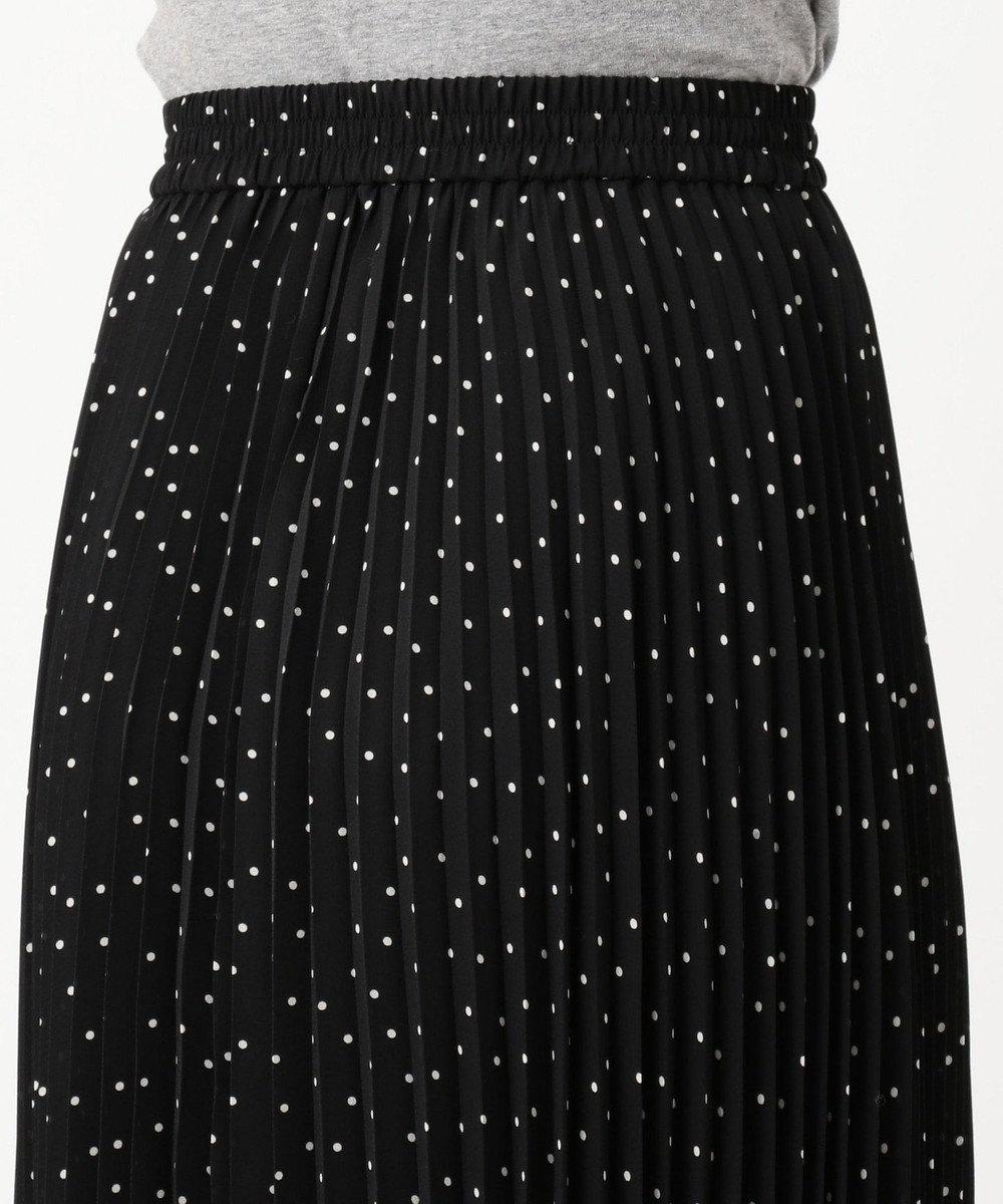 組曲 S 【洗える】ドットジョーゼットプリーツ スカート ブラック系5