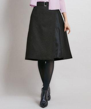 組曲 S 【洗える】ウールライクツイル スカート グレー系