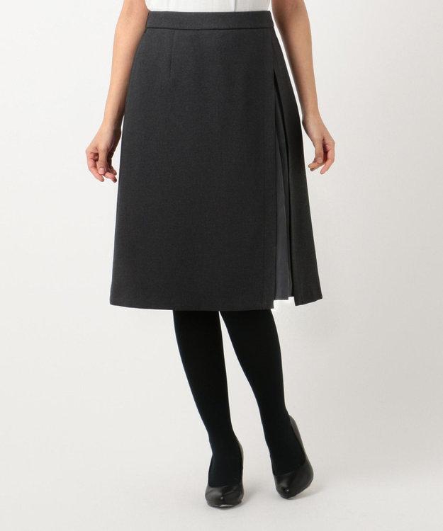組曲 S 【洗える】ウールライクツイル スカート