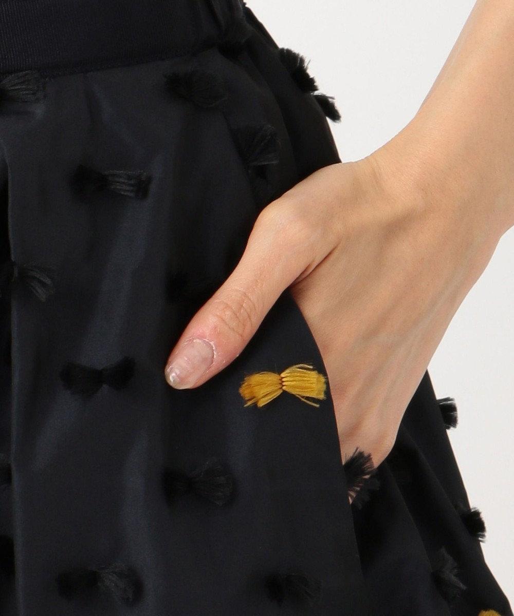 組曲 L 【KUMIKYOKU×JUN OKAMOTO】リボンカットジャガードタフタ スカート ブラック系5