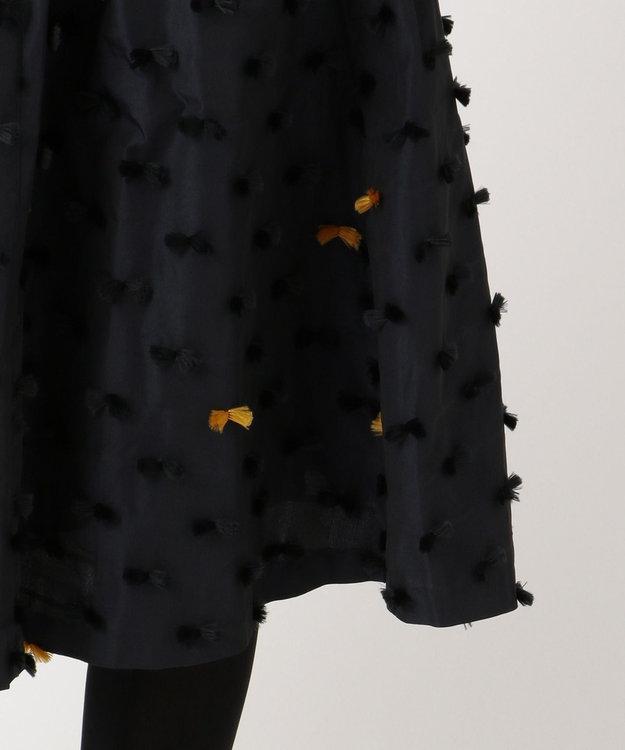 組曲 L 【KUMIKYOKU×JUN OKAMOTO】リボンカットジャガードタフタ スカート