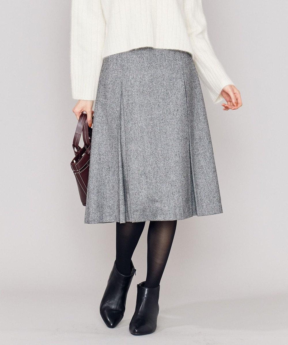 組曲 L クラシカルツイード スカート ブラック系1