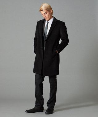 CK CALVIN KLEIN MEN シルキーシャドウストライプ スーツ ブラック系1