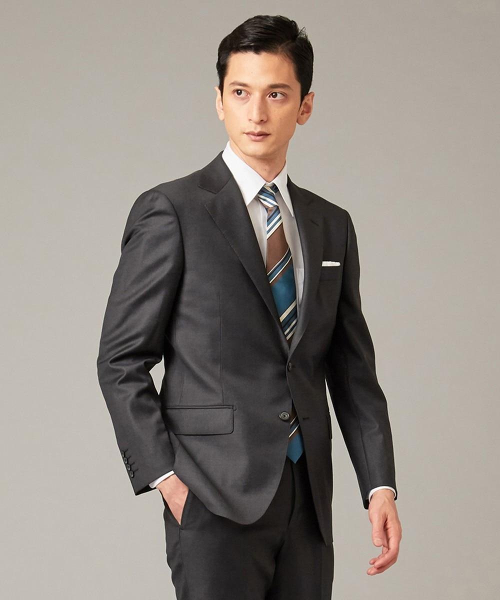 【DORMEUIL】EXEL BLUE グレー スーツ/ 無地