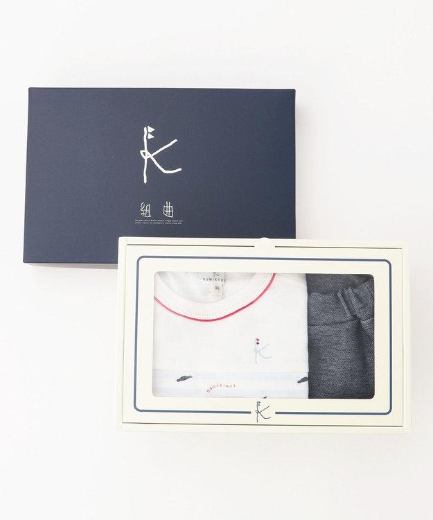 組曲 KIDS 【80~90cm】ペンギンプリント ギフトBOX