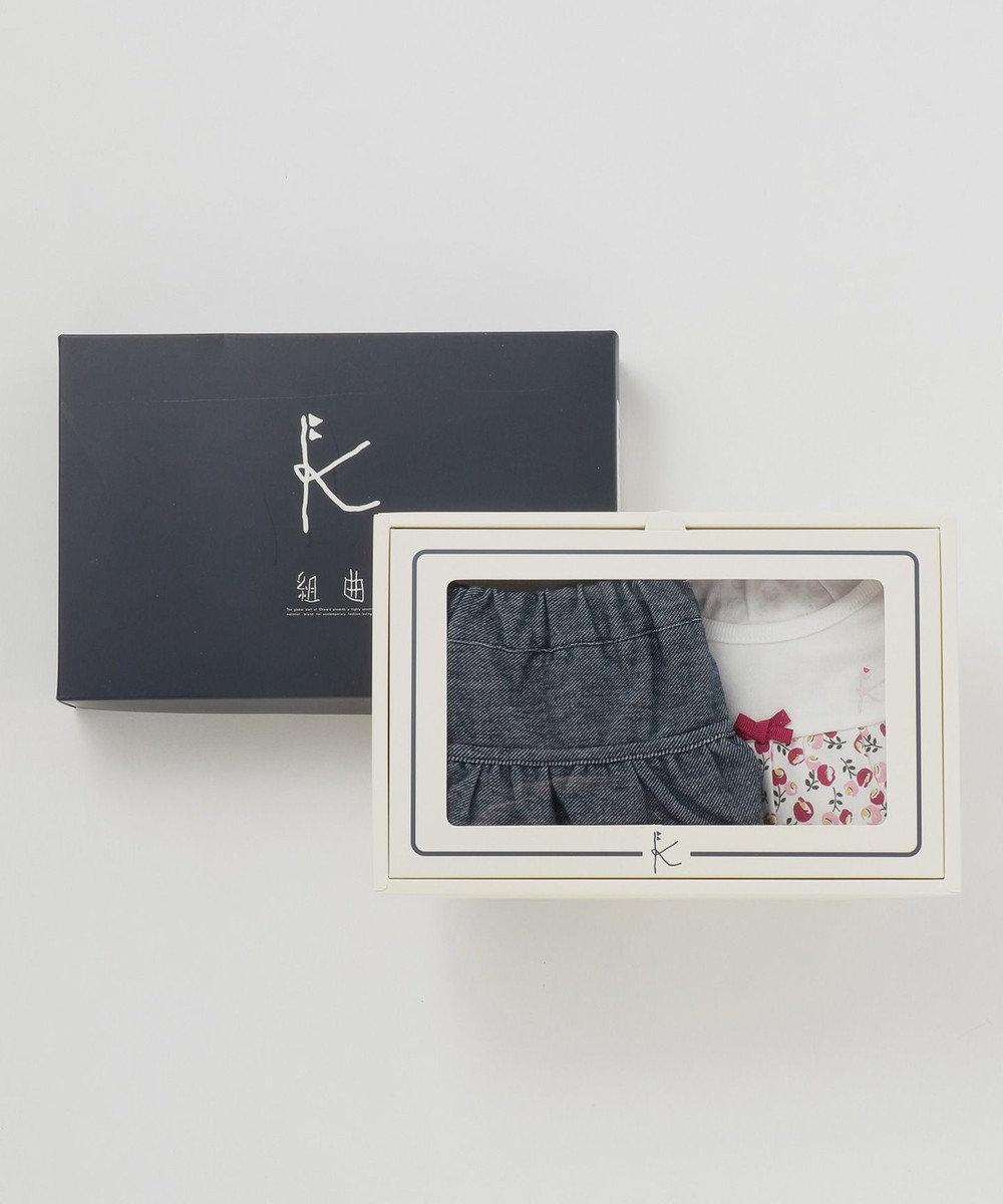 組曲 KIDS 【80~90cm】ポピープリント キュロット ギフトBOX (2点セット) レッド系5