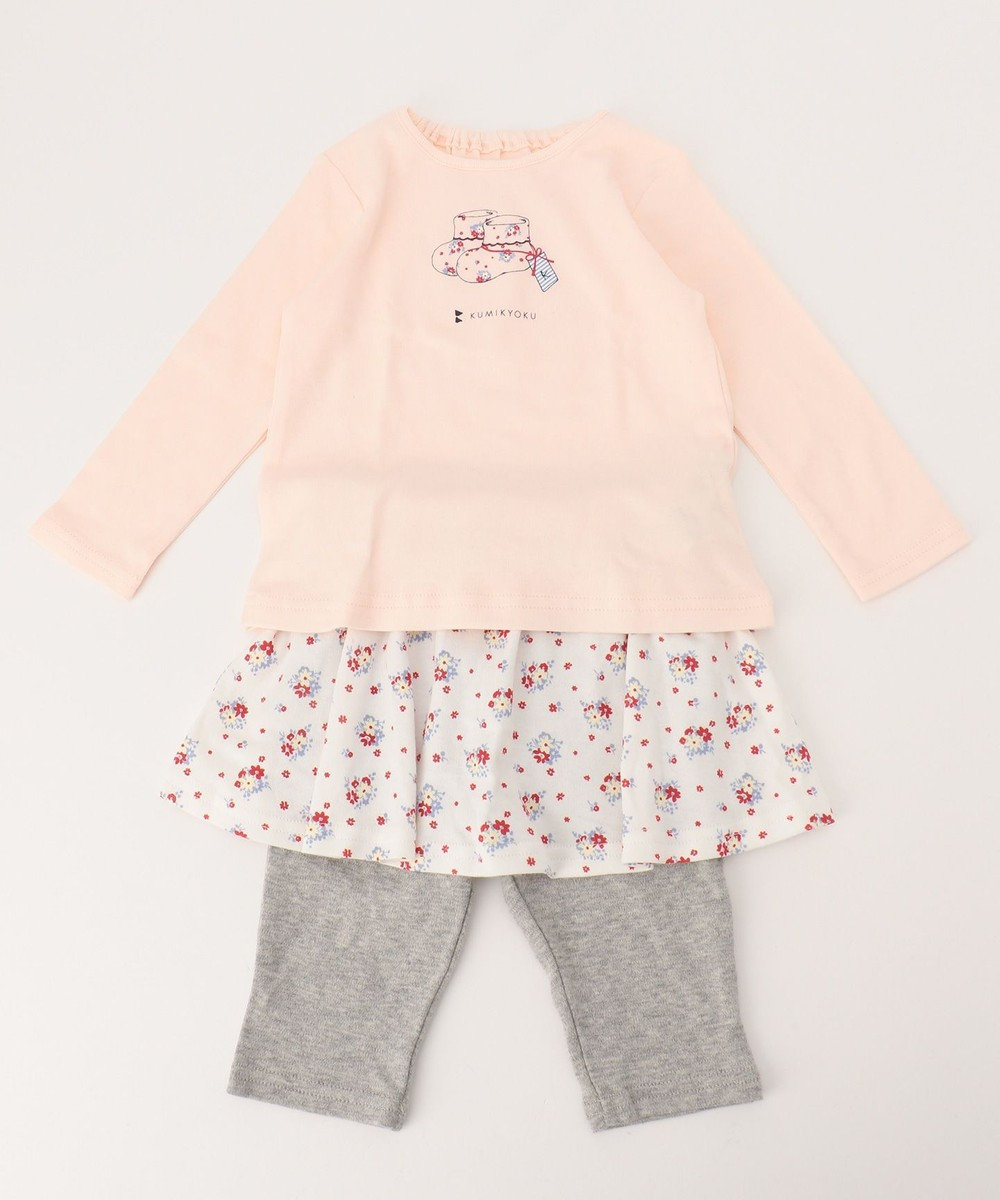 組曲 KIDS 【BABY】ギフトBOX (40/スムーストリコブーケPt 2点セット) ピンク系