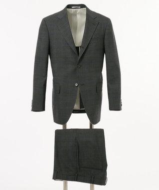 J.PRESS MEN 【CUBA BEACH】フェードブルーチェック スーツ / 背抜・ノータック グレー系4
