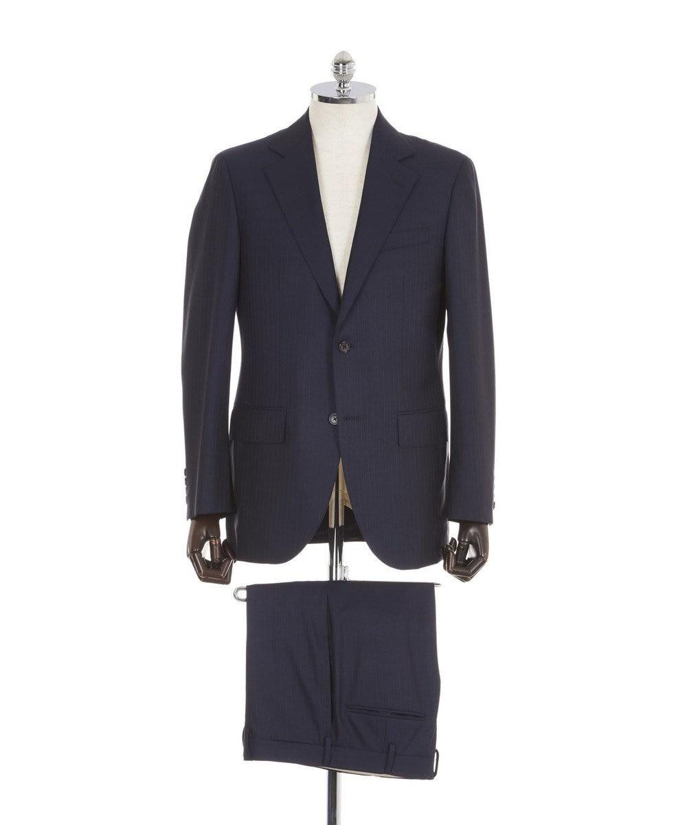 J.PRESS MEN 【Essential Clothing】ピンストライプ スーツ ブルー系1