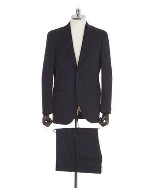 J.PRESS MEN 【Essential Clothing】ダブルワープヘリンボーン スーツ ネイビー系