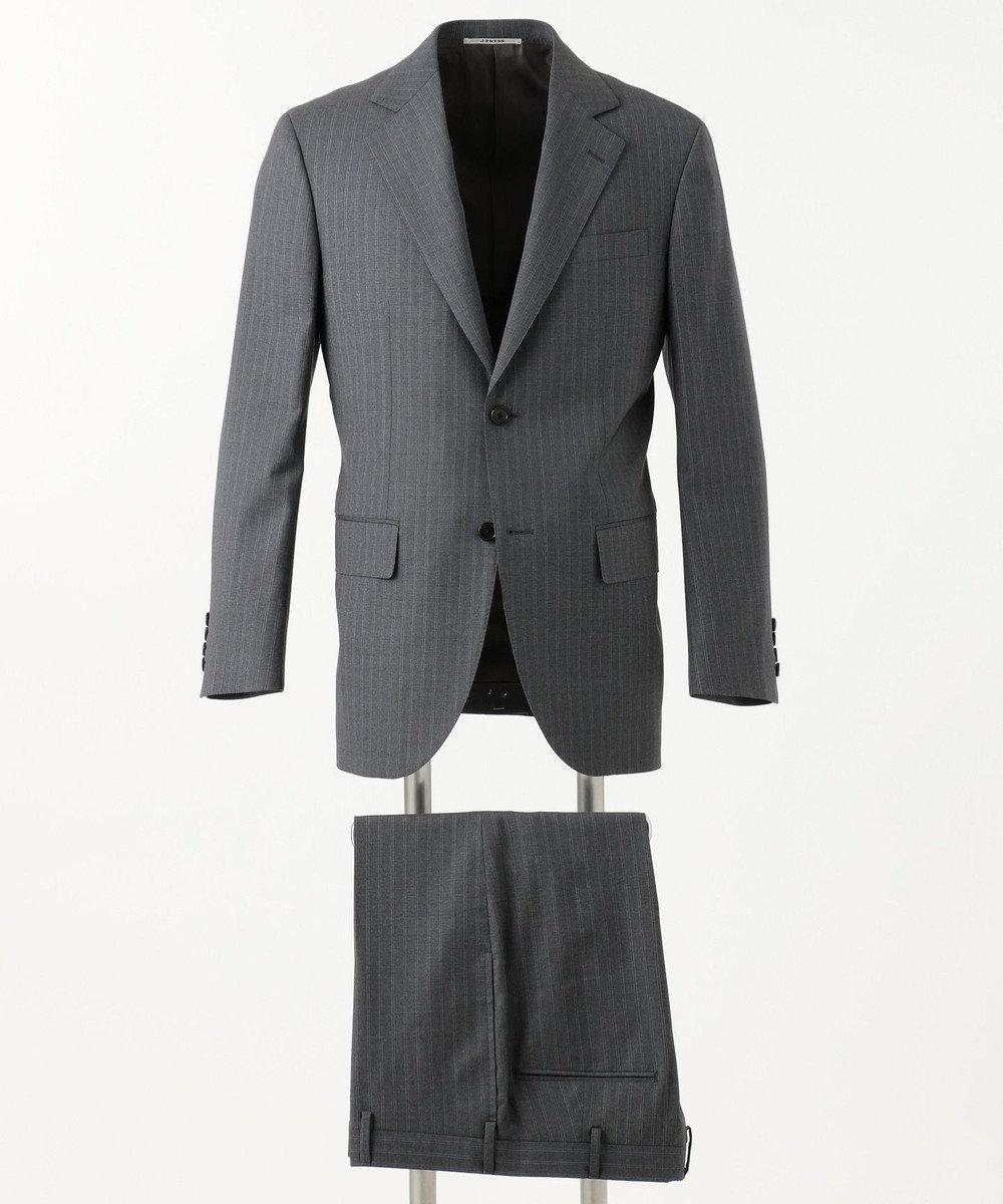 J.PRESS MEN 【GUABELLOMOTION】ダブルストライプ CLASSICS 2B スーツ ライトグレー系1