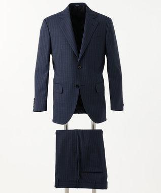 J.PRESS MEN 【GUABELLOMOTION】ダブルストライプ CLASSICS 2B スーツ ダルブルー系1