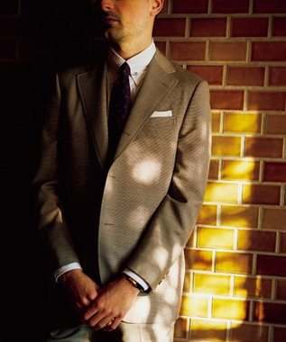 J.PRESS MEN 【CUBA BEACH GENTRY】ミニガンクラブ スーツ ベージュ系3