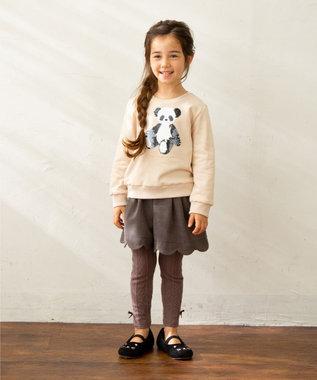 any FAM KIDS 【140-150cm】ミラクルスパンコール 裏毛トレーナー ベージュ系