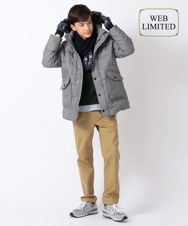J.PRESS KIDS 【WEB限定カラー有り/140-170cm】Wフェイス フェイクレイヤード トレーナー