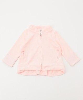 組曲 KIDS 【BABY】パイル×ラパンフラワーPt パーカー ピンク系