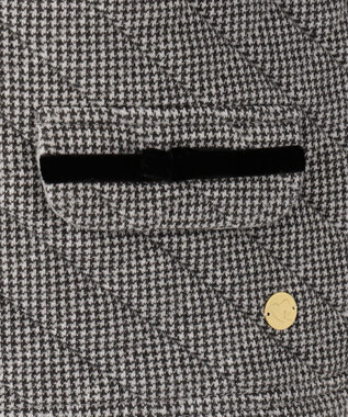 組曲 KIDS 【110~140cm】キルトジャガードジャケット ブラック系3