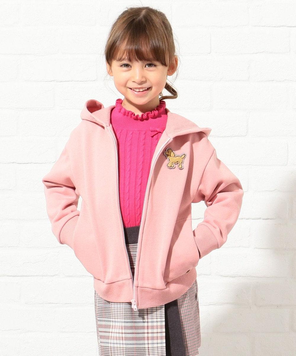 組曲 KIDS 【110~140cm】裏毛パーカー オールドローズ系