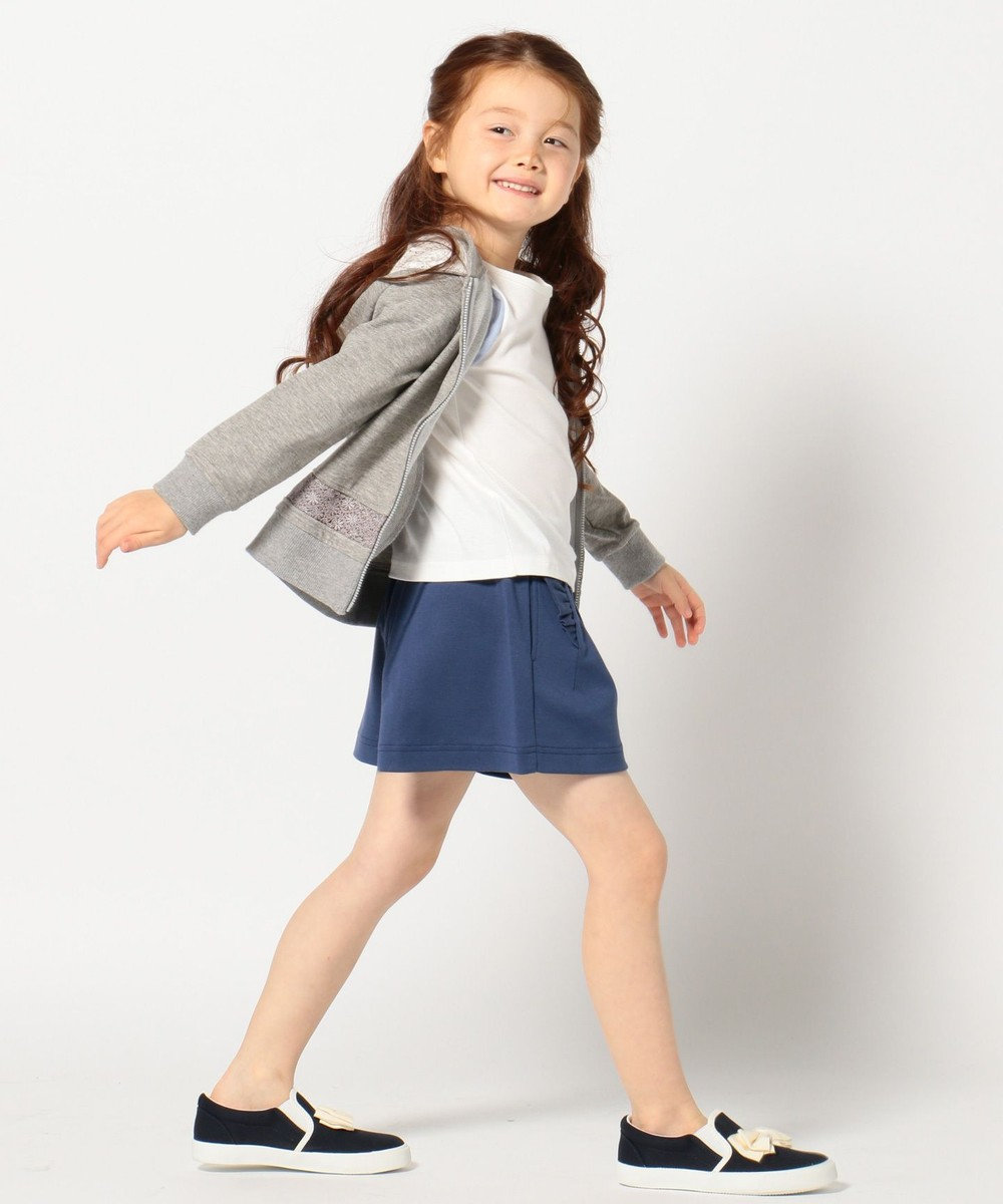 組曲 KIDS 【2017春のWEB限定 / TODDLER】ソロ40/1裏毛 パーカー グレー系