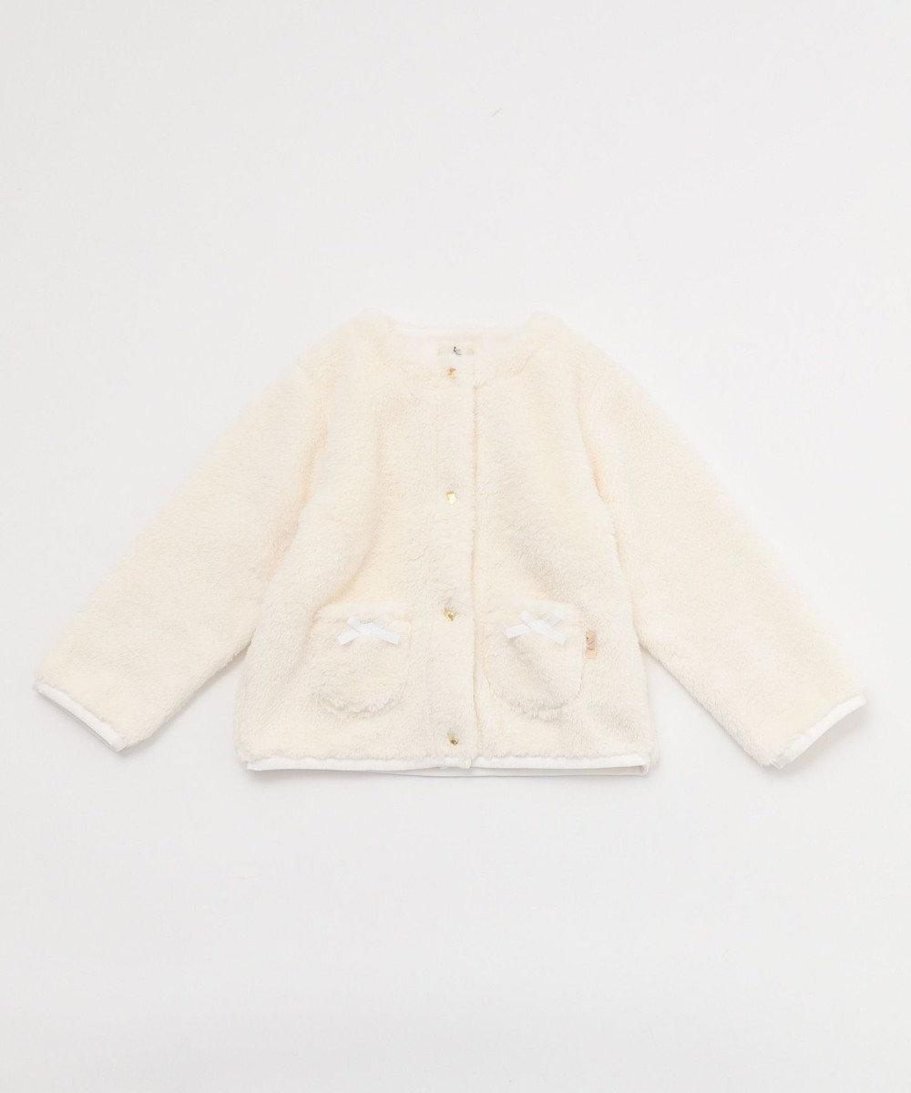 組曲 KIDS 【80~100cm】ボア ブルゾン アイボリー系