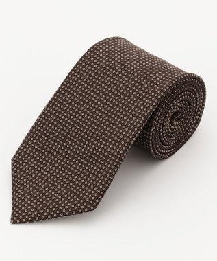 DAKS シルク マイクロピンドット ネクタイ ダークブラウン系8