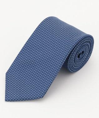DAKS シルク マイクロピンドット ネクタイ ブルー系8