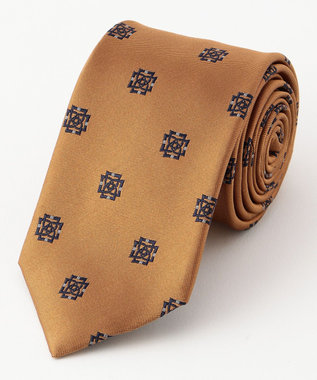 DAKS 【日本製】インターロックDDジャカード ネクタイ オレンジ系8