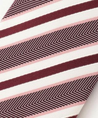 DAKS 【WEB限定】レジメンタル ネクタイ ピンク系2