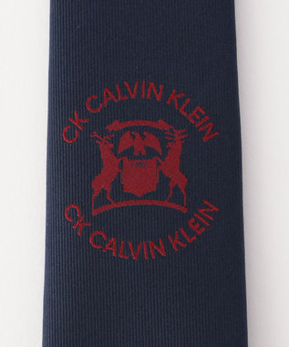 CK CALVIN KLEIN MEN シルクエンブレムロゴ ネクタイ ブラック系5