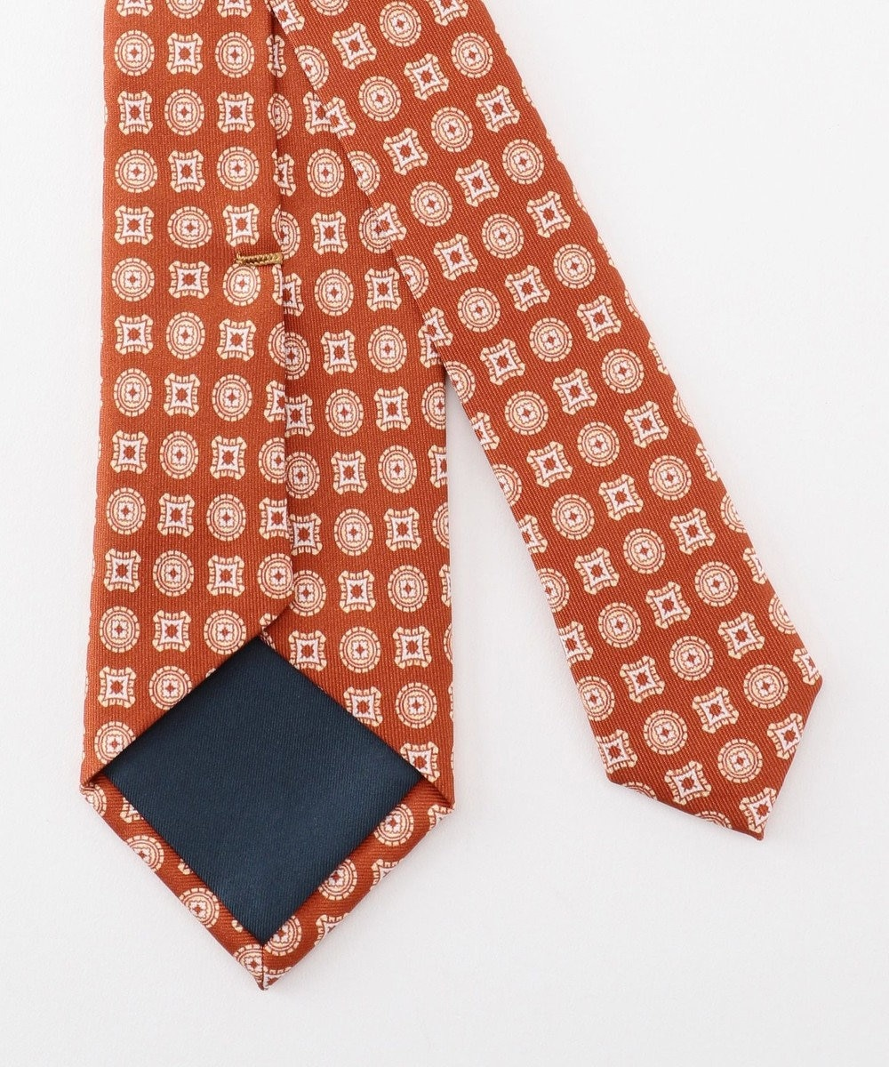 GOTAIRIKU 【WEB別注】【数量限定】小紋パターン ネクタイ オレンジ系8