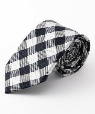 GOTAIRIKU 【WEB別注】【数量限定】ギンガムチェック柄 ネクタイ ブラック系4