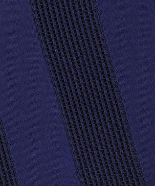 J.PRESS MEN ワンダーフレスコ グラデストライプ ネクタイ ネイビー系1