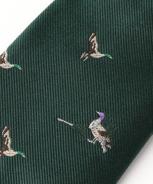 J.PRESS MEN 【WEB限定復刻ジョークタイ】鴨が葱を背負って来る ネクタイ グリーン系