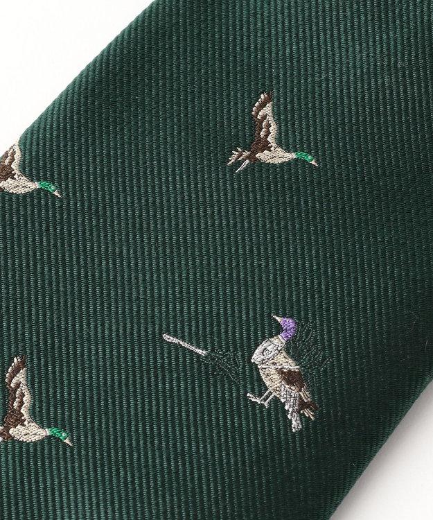 J.PRESS MEN 【WEB限定復刻ジョークタイ】鴨が葱を背負って来る ネクタイ