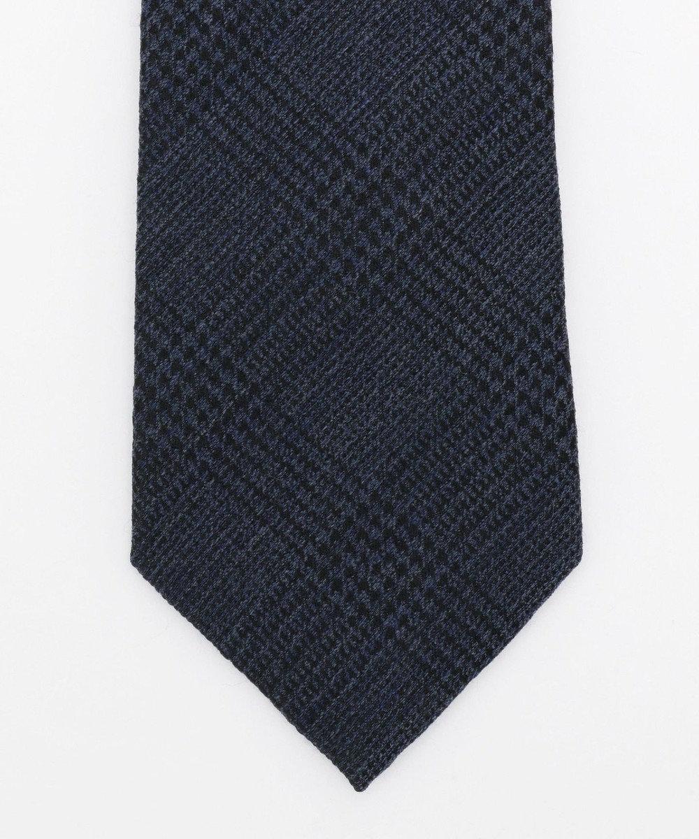 J.PRESS MEN 【Silk&Wool】グレンチェック ネクタイ ブルー系3