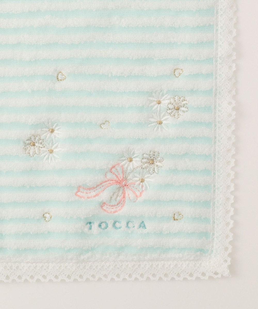 TOCCA 【HANDKERCHIEF COLLECTION】BORDER FLOWER TOWEL HANDKERCHIEF タオル ブルー系
