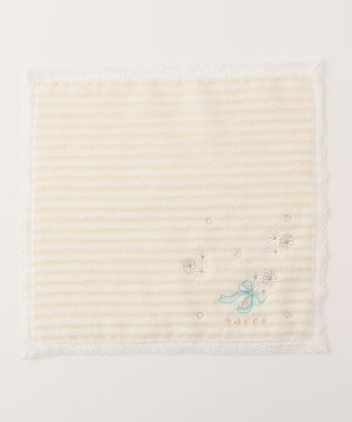 TOCCA 【HANDKERCHIEF COLLECTION】BORDER FLOWER TOWEL HANDKERCHIEF タオル アイボリー系