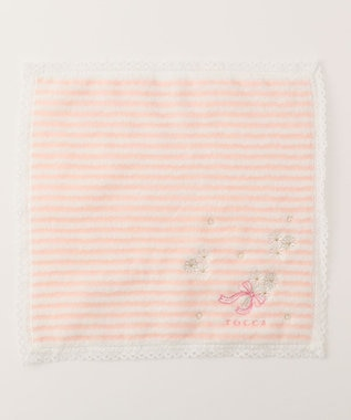 TOCCA 【HANDKERCHIEF COLLECTION】BORDER FLOWER TOWEL HANDKERCHIEF タオル ピンク系