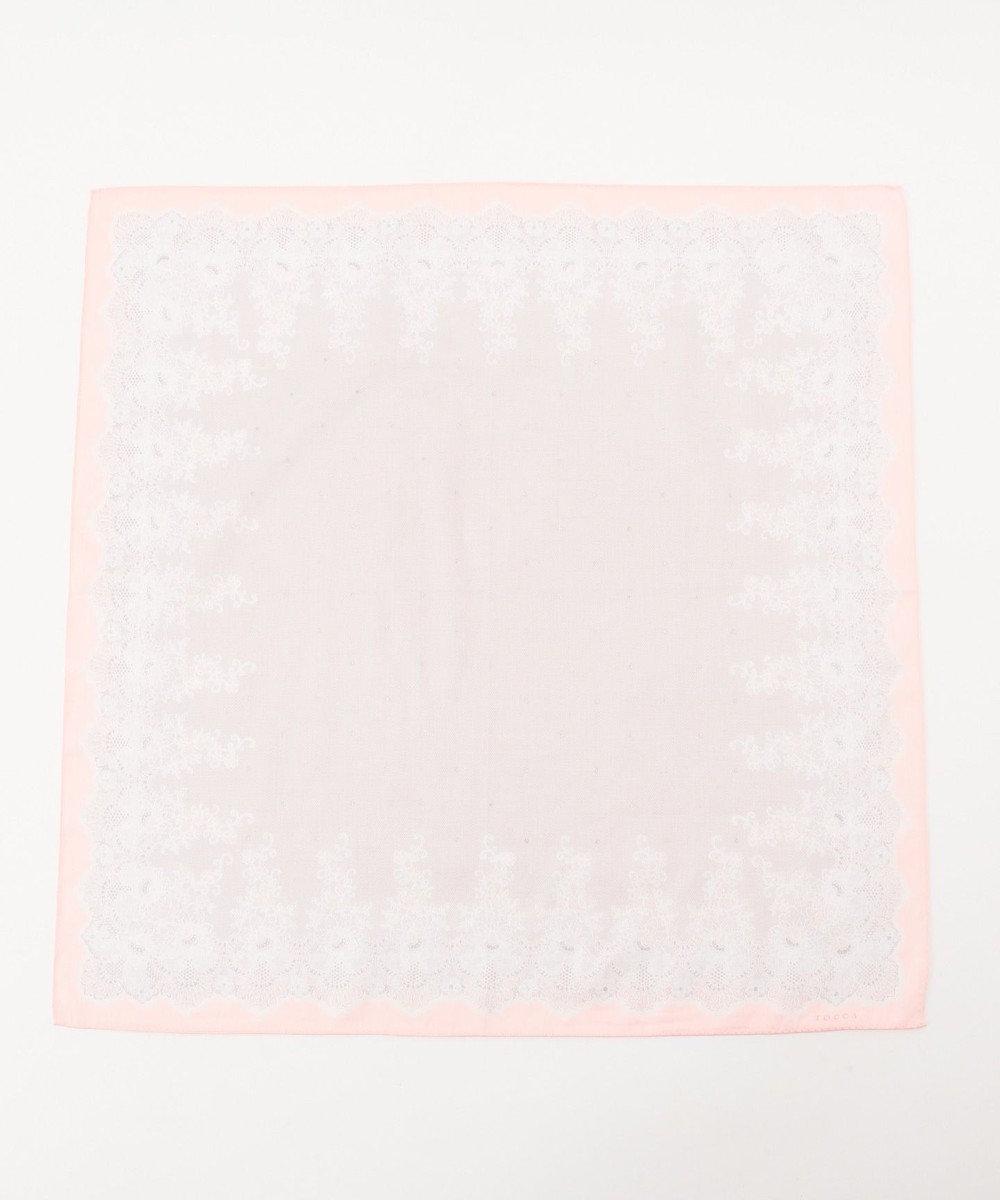 TOCCA 【HANDKERCHIEF COLLECTION】LACE PRINT HANDKERCHIEF ハンカチ オールドローズ系
