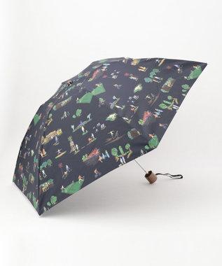 Paul Smith プリント 折り畳み傘 ネイビー系1