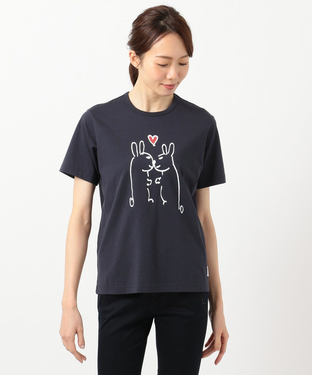 Paul Smith 【LOUNGEWEAR】アートTシャツ NAVY/TWO RABBITS