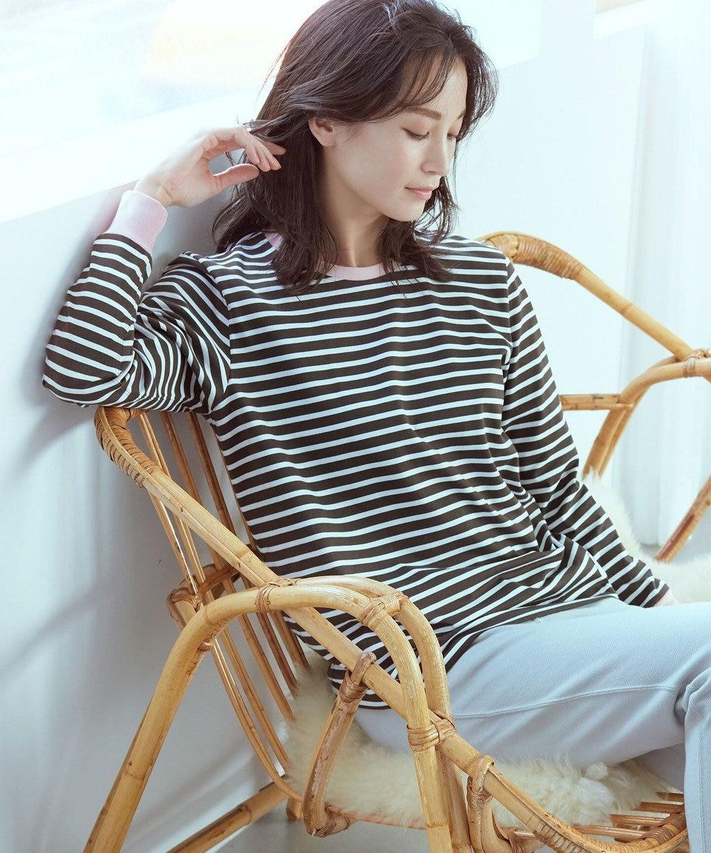 Paul Smith 【LOUNGEWEAR】ストライプジャージー  Tシャツ オリーブ系1