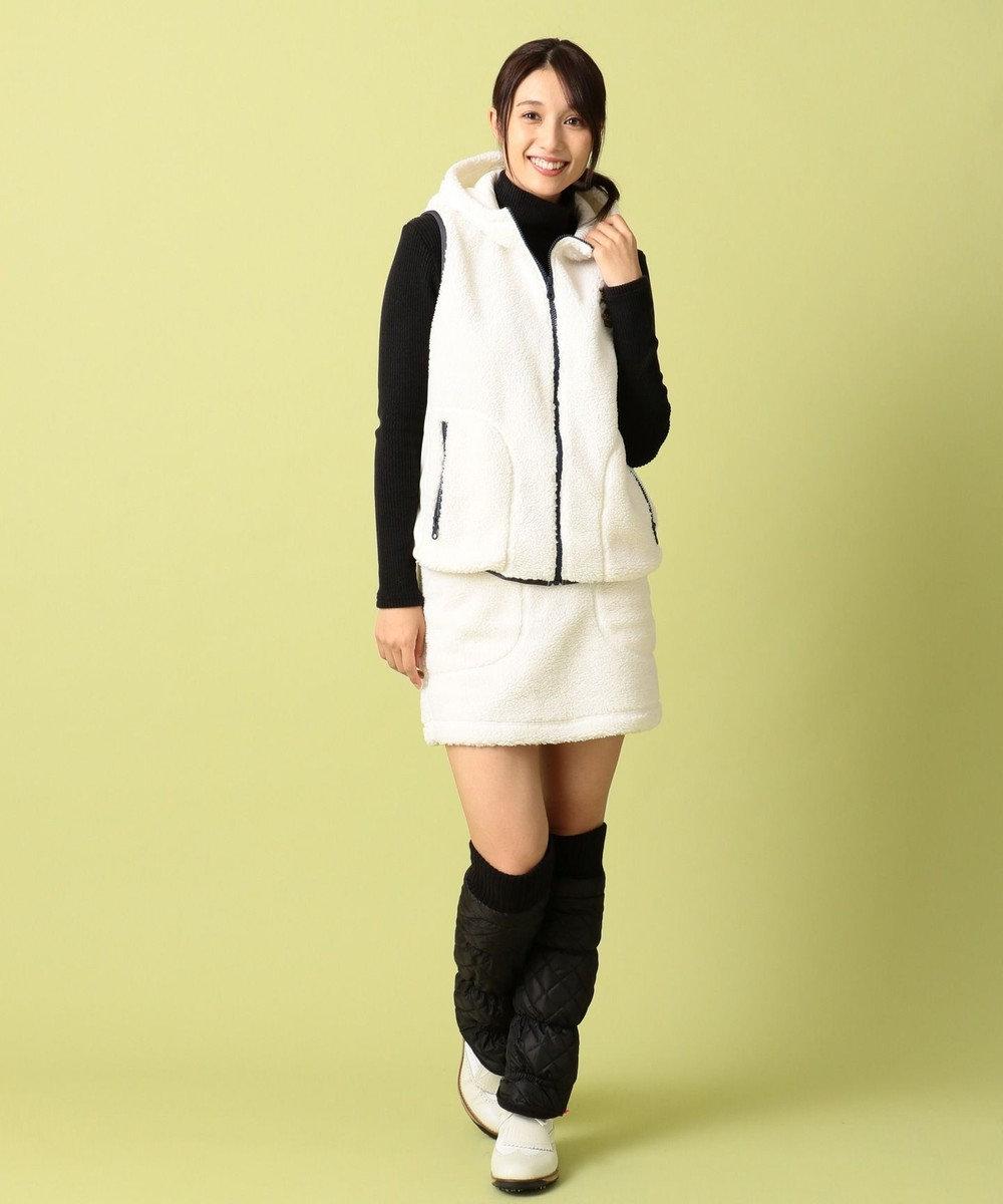 23区GOLF 【WOMEN】エアシャット ヒートウォームシープボア ベスト ホワイト系