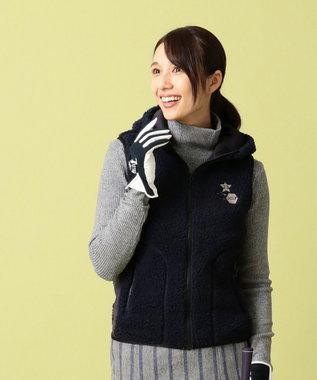 23区GOLF 【WOMEN】エアシャット ヒートウォームシープボア ベスト ネイビー系
