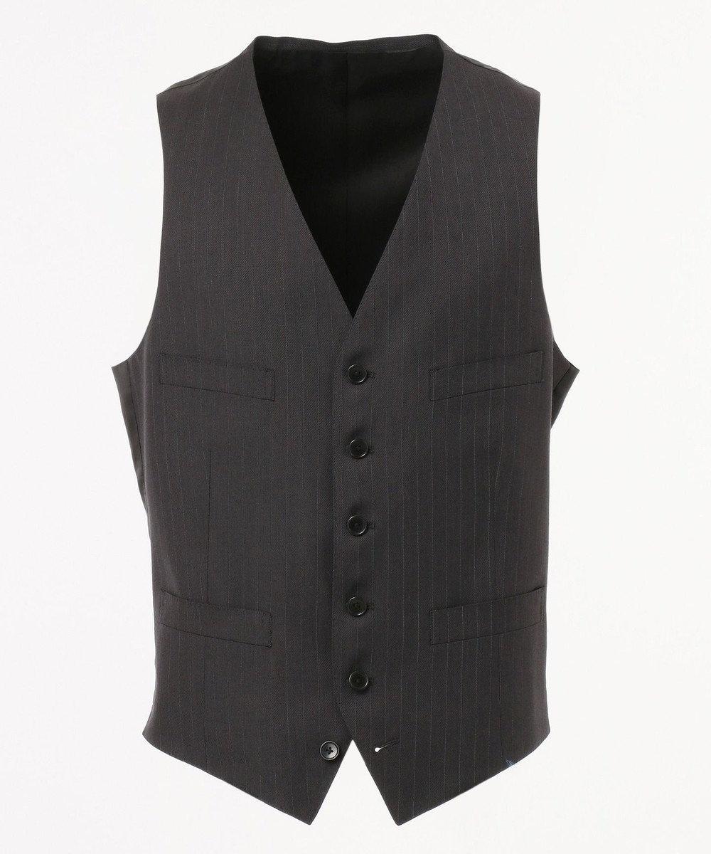 J.PRESS MEN 【Essential Clothing】ミスティストライプ ベスト / スーツ グレー系1