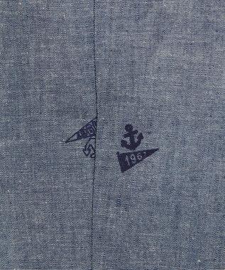 J.PRESS MEN 【BLUE BLUE×J.PRESS】DACRON シアサッカー ベスト(検索番号W108) ネイビー系1
